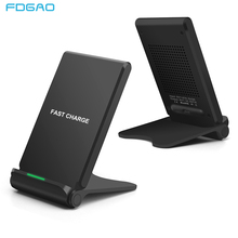 FDGAO 10W Quick Qi Wireless Charger For iPhone X 8 XS MAX XR Samsung S9 S8 Plus Note 9 8 Fast Wireless Charging Pad Phone Holder цена