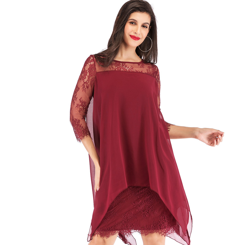 2019 Summer Style Chiffon Party Dress Women Casual o neck Beach Dress Sweet Dresses Plus Size vestidos summer dresses in Dresses from Women 39 s Clothing