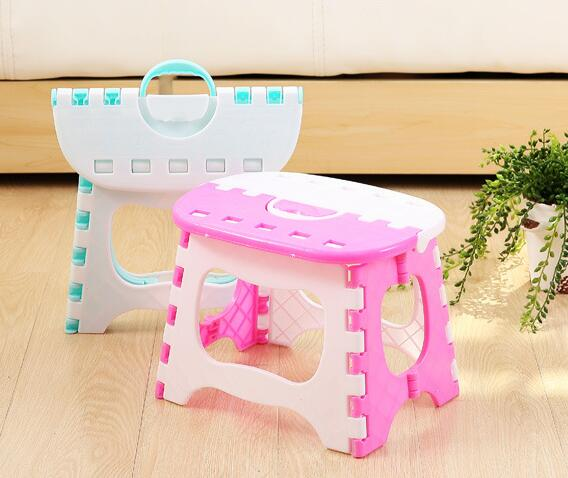 2015 NEW  Fashion plastic folding stool ottoman Creative portable childrens bench chair hot sale