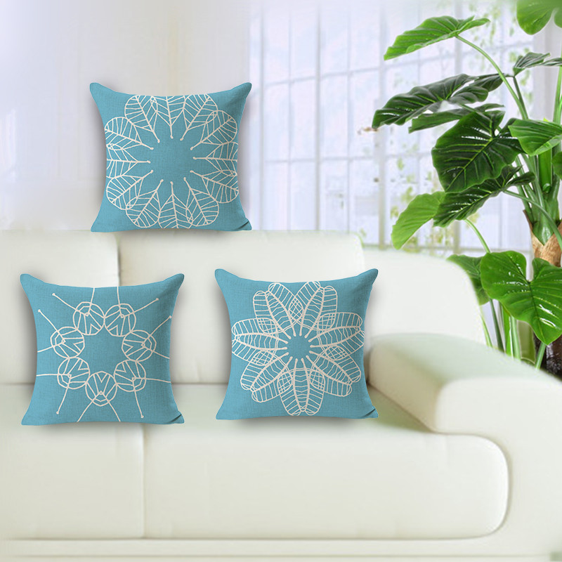 Hot Sale Wholesale Cheap Price Chinese Style Blue Porcelain Floral Amazing Decorative Pillows Cheap Prices