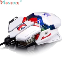 Top Quality Mosunx Professional 4000DPI 10D LED Sword Master Optical Wired Gaming Mouse For Dota FPS PC Mechanical Computer Mice