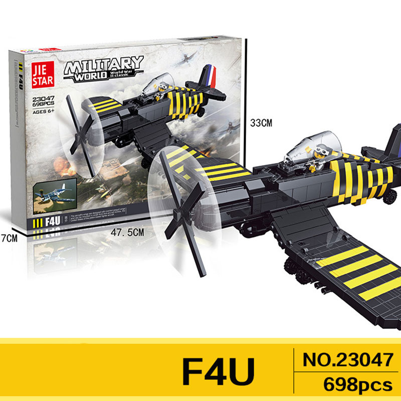 Classic world war 2 germany army air forces BF-109 F4U P-47 fighter building block model ww2 figures bricks toys oenux world war 2 united state army air forces fighter p 47 thunderbolt aircraft vehicle model military building block brick toy