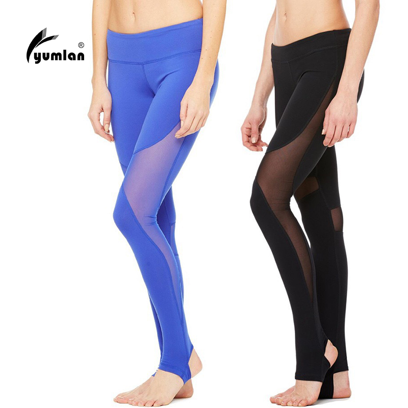 Fitness Yoga Pants Sport Legging Women  Training Running Tights Elastic Sports Tight Mesh Yoga Leggings Running Tights Women ayopanda 2017 new yoga pants women leopard printed fitness gym sports legging quick dry workout trousers hot sale running tights