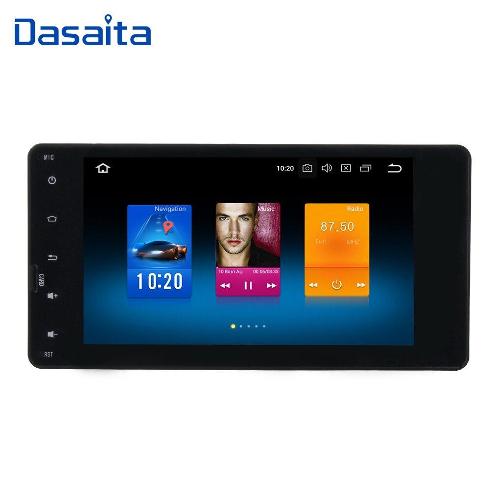 Dasaita 7 Android 8.0 Car GPS Radio Player for Mitsubishi Outlander Lancer -X ASX 2014-2015 with Octa Core 4GB+32GB Auto Stereo