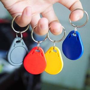 Image 3 - 5 pièces 125khz RFID porte clés autocollants carte Tag clé ID porte clés EM4100 porte entrée contrôle daccès EM porte clés jeton
