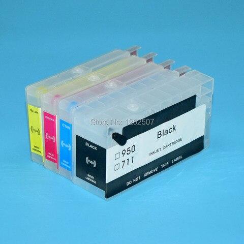 boma team hp711 hp711xl 711 711xl cartucho de tinta recarregaveis com auto reset chip para