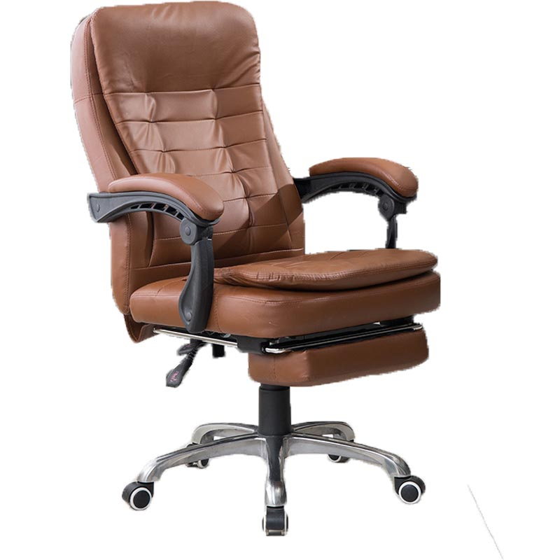 Simple and Comfortable Computer Chair with Footrest Household Study Room Chair Lifted Swivel Chair Simple Boss Chair Reclining