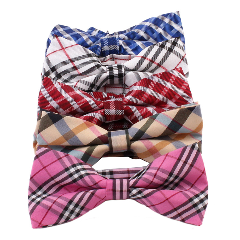 Hot Fashion Kids Children Boy Student Bow Tie Cotton Plaid Party Shirt Bowties Baby Kid Classical Striped Bow tie Wholesale