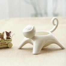 Ceramic Flower pot creative cat flowerpot crafts and gifts home desktop ornaments landscape plant pot also can be Candlestick