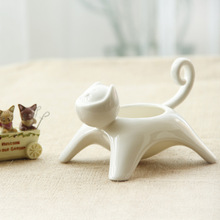 Ceramic Flower pot creative cat flowerpot crafts and gifts home desktop ornaments landscape plant pot also can be Candlestick