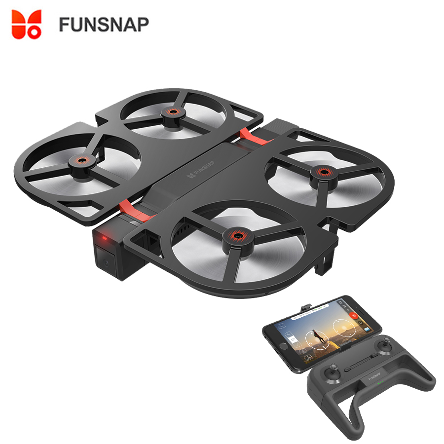 Funsnap Youpin iDol FPV RC Drone GPS Foldable Drone Camera HD 1080P /AI Gesture Control /Follow Mode /Optical Flow Altitude Hold funsnap idol 2 4g rc drone foldable gps quadcopter with 120 pitch 1080p hd wifi fpv camera optical flow positioning gesture fz