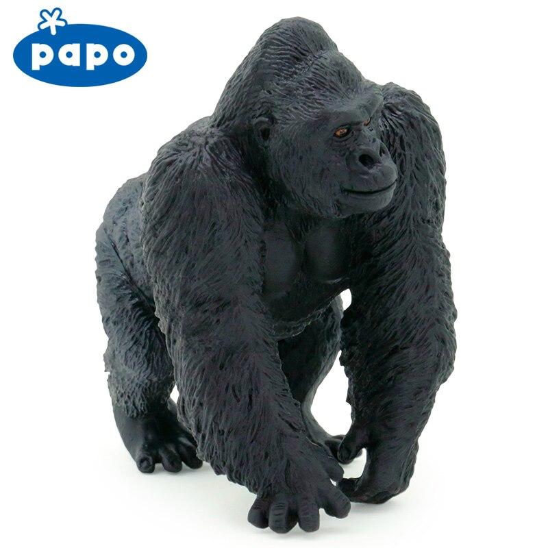 Papo Wild Animal Kumgang Model Gorilla Toy In Action