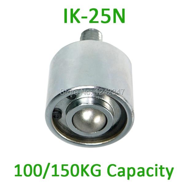 IK-25N M16 bolt carbon steel 150kgs ball castor Load Capacity Roller 25mm Ball Downward Facing IK25N Ball Transfer Units