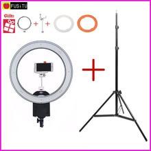 NanGuang CN-R640 R640 Фотография Video Studio 640 LED Непрерывный Макро Кольцо Света 5600 К День Освещение + 2 М штатив стенд