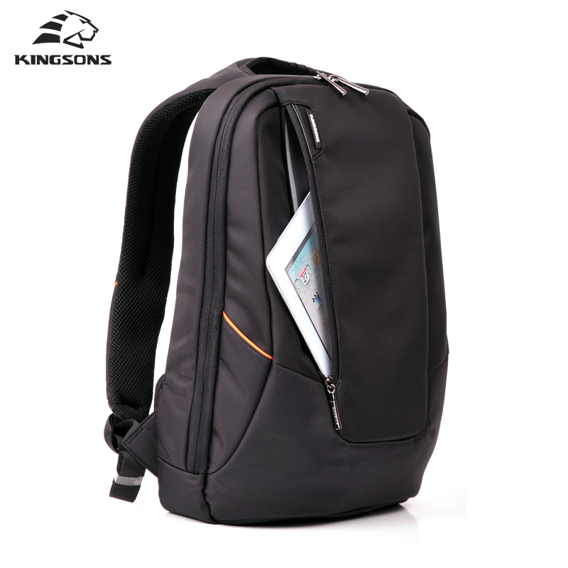 Kingsons Waterproof Men Women Backpack Business Travel Backpack Black Male Backpack Large Laptop Computer Backpack 15.6 Inches
