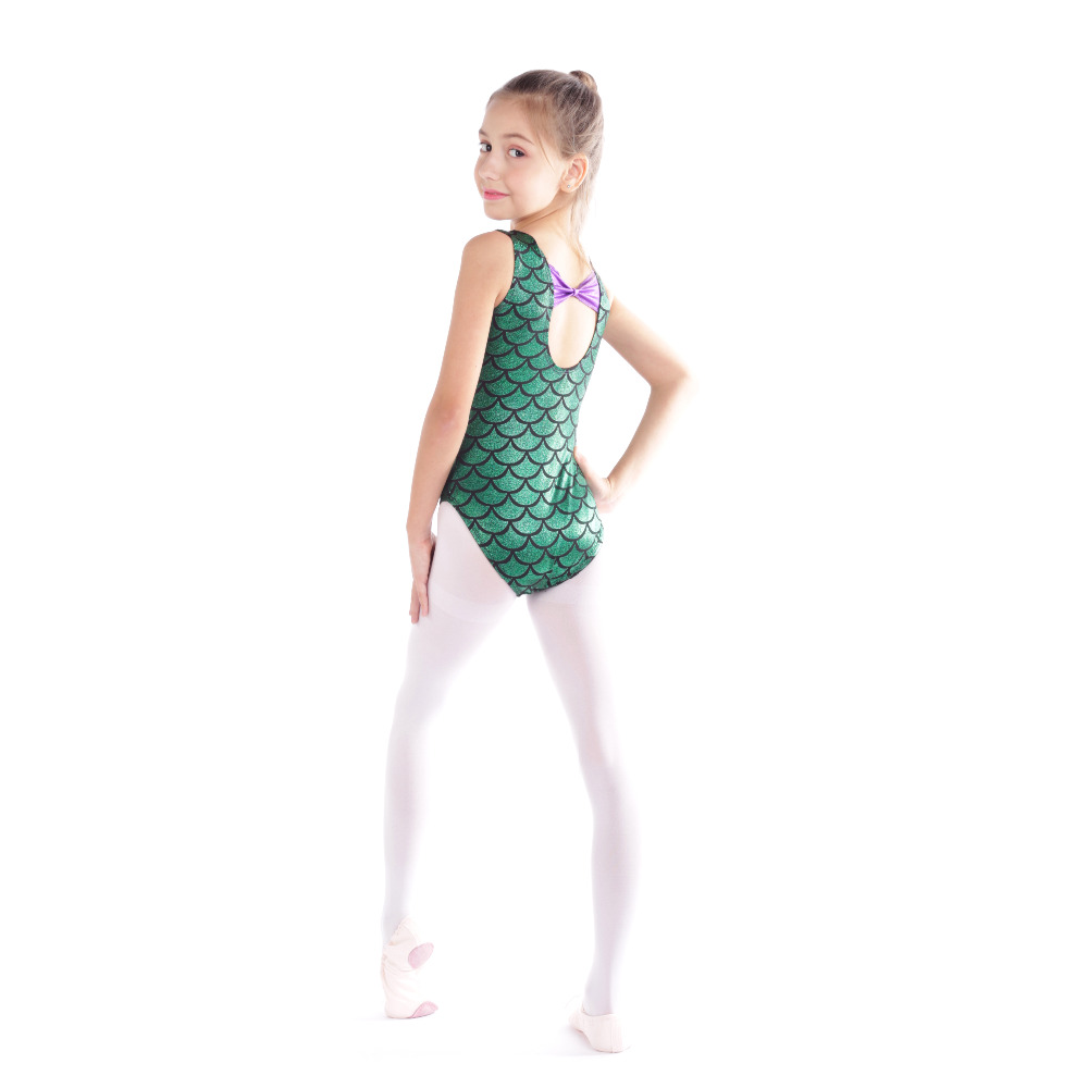 Little Girls' One piece Sparkle Mermaid Ballet Dance Tank