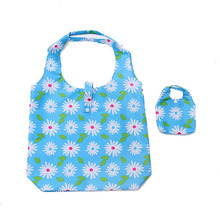 60PCS / LOT Foldable Shopping Bag Oxford Fabric Shoulder Bag Portable Eco Friendly Grocery Bags Reusable Tote for Ladies