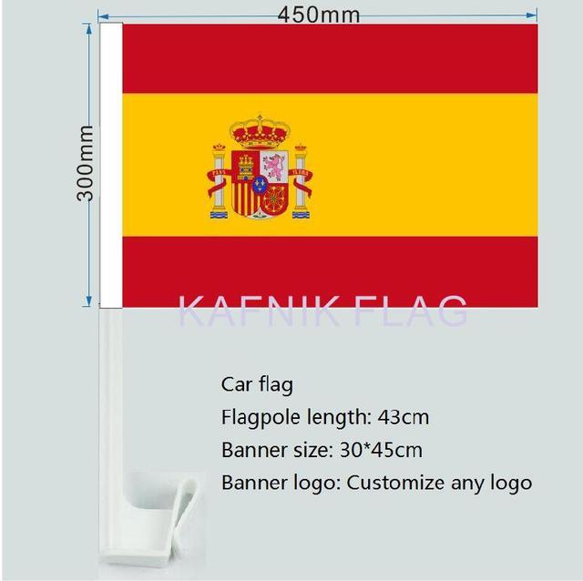 kafnik 30x45c spanish flag spanish car window flag pole car