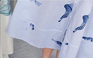 Image 5 - 2019 סטרפלס חולצה חצאית יולדות הנקת שמלות נשים בהריון בגדי הריון שמלות Vestidos הריון סיעוד