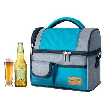 a243c4a7f3d4 Синий теплоизолированные сумки-холодильники чехол Портативный ...