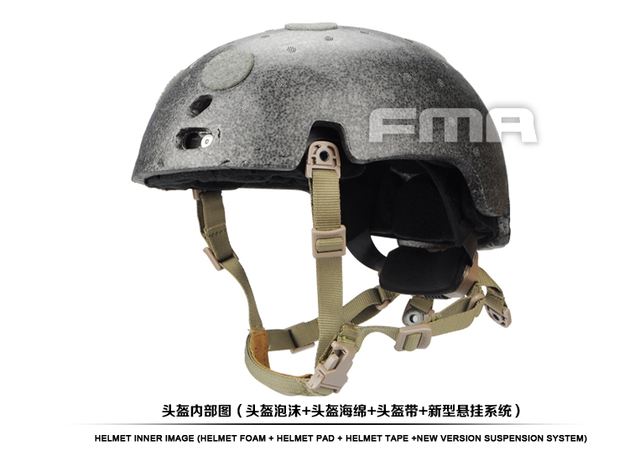 FMA nueva suspensión + alto nivel memoria almohadilla para casco balístico TB1050 BK/DE/FG M/L/XL envío gratuito
