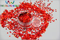 LM-3  Size 3 mm laser holographic Red color Glitter paillette  Heart  shape spangles for Nail Art  and DIY supplies1pack=50g