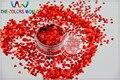 LM-3 Tamaño 3mm holográfica láser de color Rojo Corazón Del Brillo Del paillette lentejuelas forma para Uñas de Arte y DIY supplies1pack = 50g