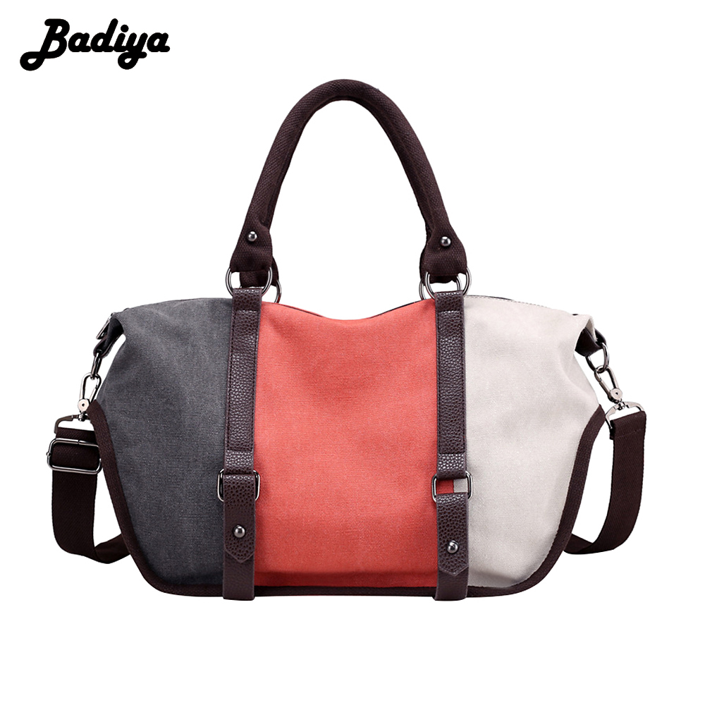 New Arrival Large Capacity Casual Women Tote Bags Patchwork Crossbody Bag Brand Design Canvas Female Handbag weiju new canvas women handbag large capacity casual tote bag women men shoulder bag messenger crossbody bags sac a main