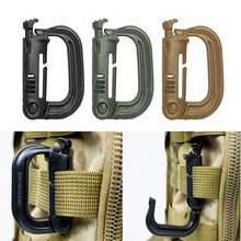 5 PCS New Outdoor Climbing Tools Carabiners & Quickdraws D Locking Ring Plastic Clip Snap Type Buckle Packpack Fast buckle