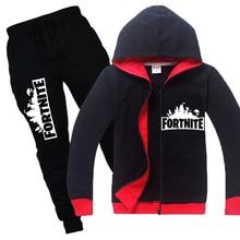 Fortnite kinderen set 2018 kinderkleding jongens lange mouw tshirt + broek 2 stks sets meisjes kinderkleding hoodies sweatshirts sets