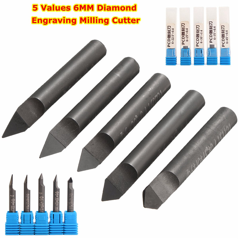 5 Values 6MM Marble Granite CNC Diamond Engraving Bit Router Bit 2018 New Arrival5 Values 6MM Marble Granite CNC Diamond Engraving Bit Router Bit 2018 New Arrival