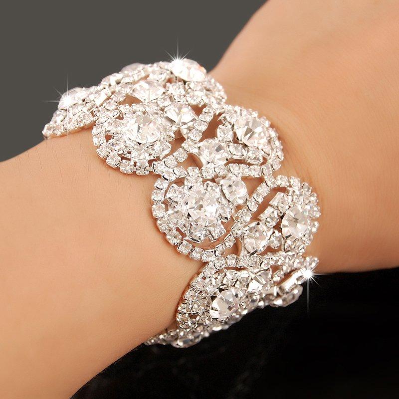 Wedding Charm Bracelet: Kiteal Xmas Gift Crystal Bracelets For Women Femme Silver