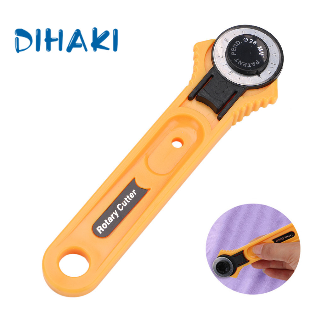 28mm Circular Rotary Cutter Knife For Sewing Quilting Fabric Cutting Leathercraft Hand Tool Home Cutting Round Knife