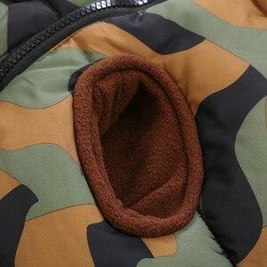 Image 4 - CROAL シェリー 80 120 センチ子供の冬ジャケット十代の少女暖かい冬ベビーパーカーのための迷彩幼児オーバーコート