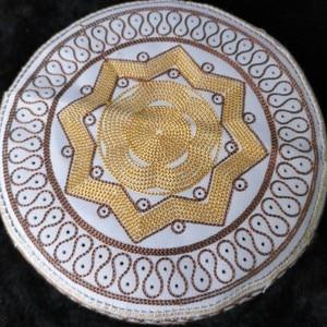 Image 2 - Мусульманская молитвенная Кепка для мужчин, мусульманская шляпа, мусульманская шляпа из Индии, Аравии, Муслим, мусульманский головной платок, Кепка из Саудовской Аравии