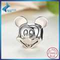 Fashion Gift 925 Sterling Silver Lover Cute Mickey Shape Charms and beads Fit Bracelet & Necklace Jewelry Accessories