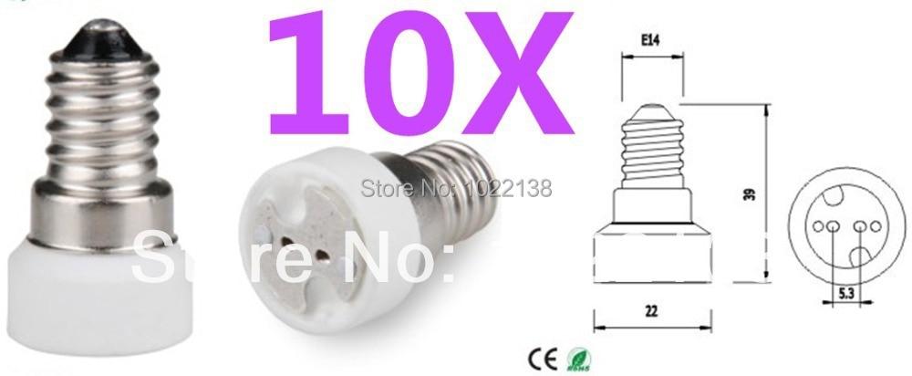 Freeshipping 10pcs/lot Portable E14 To MR16 Led Lamp Base Converter Light Bulb Holder E14 To G4 G5.3 MR16 Led Socket