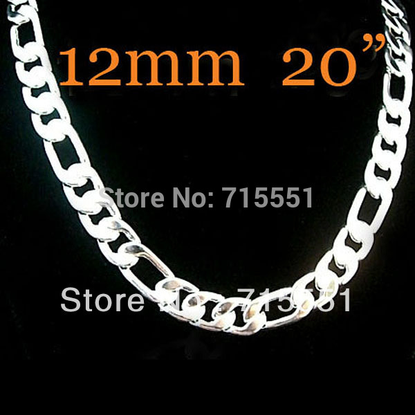 Promotion sale, Hot New Items / Mens Jewelry / - High Quality / 925 Sterling Silver Chain Necklace