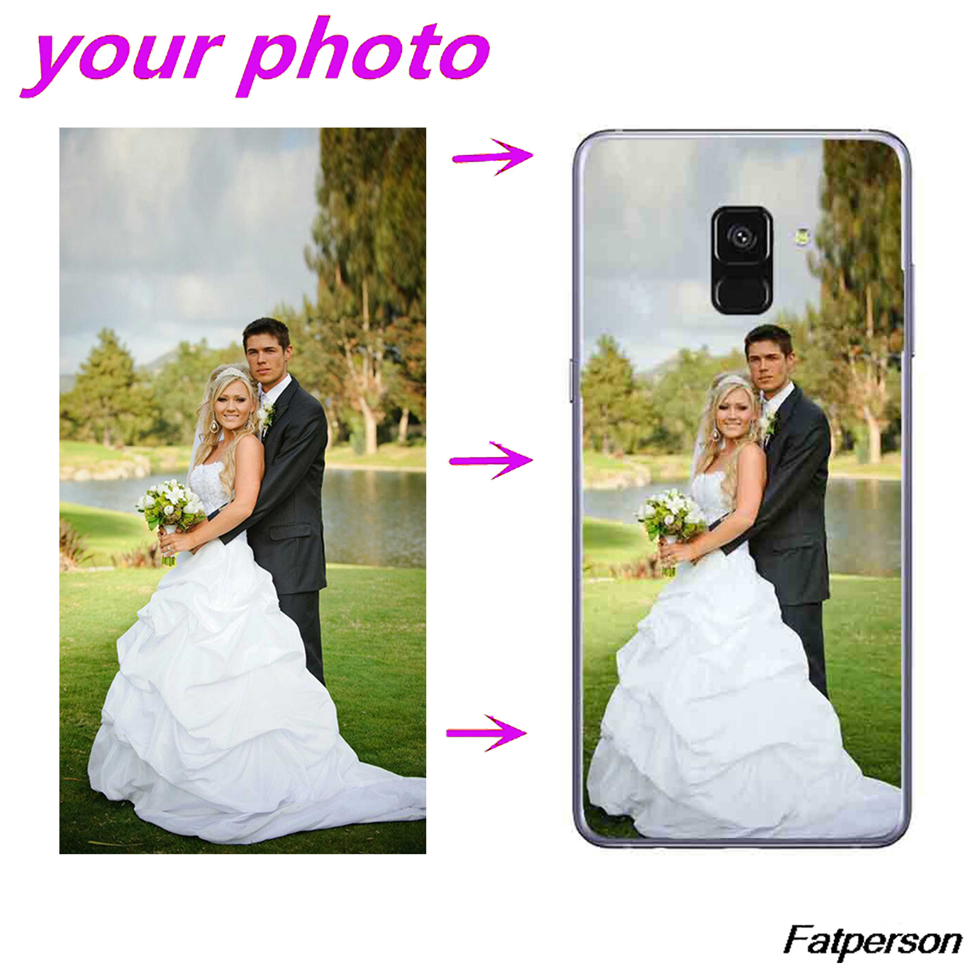 DIY Photo pattern images Customer design Customize Mobile Phone Case Shell Bag Cover For Samsung A9 2018 A9 pro A8 2018 A7 A6