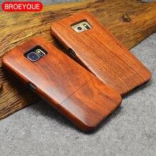 עץ מקרה לסמסונג גלקסי S5 S6 S7 S8 S9 קצה בתוספת הערה 3 8 9 Celular טלפון מקרי כיסוי 100% טבעי במבוק גילוף Fundas