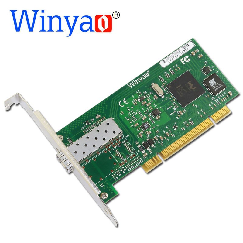 Winyao WY545DF PCI Desktop Gigabit Fiber lan card for 82545 PWLA8490MF Single-Port SFP Fiber 1000Mbps Network card winyao wyi350t4 pci e x4 rj45 qual port server gigabit ethernet 10 100 1000mbps network interface card for i350 t4 4 port nic