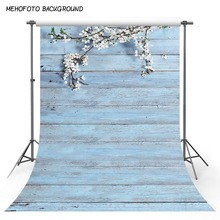 Photography Backdrops Light Blue Wood floor Flowers children photo backgrounds printed studio 5x7ft backdrops fotografia