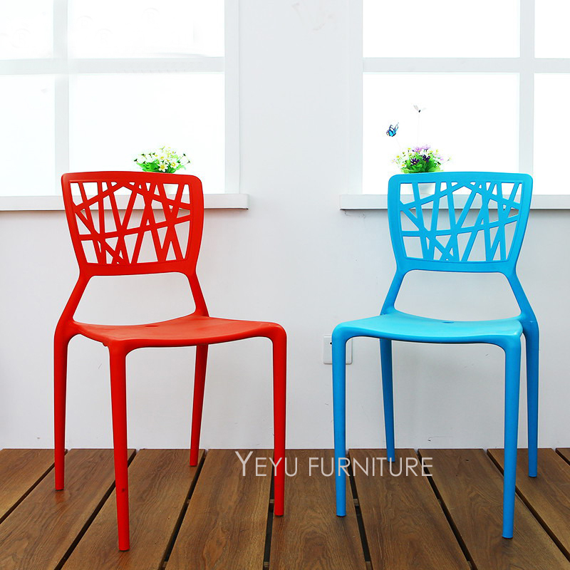 Modern Design Stackable Plastic Dining Chair Stack Fashion