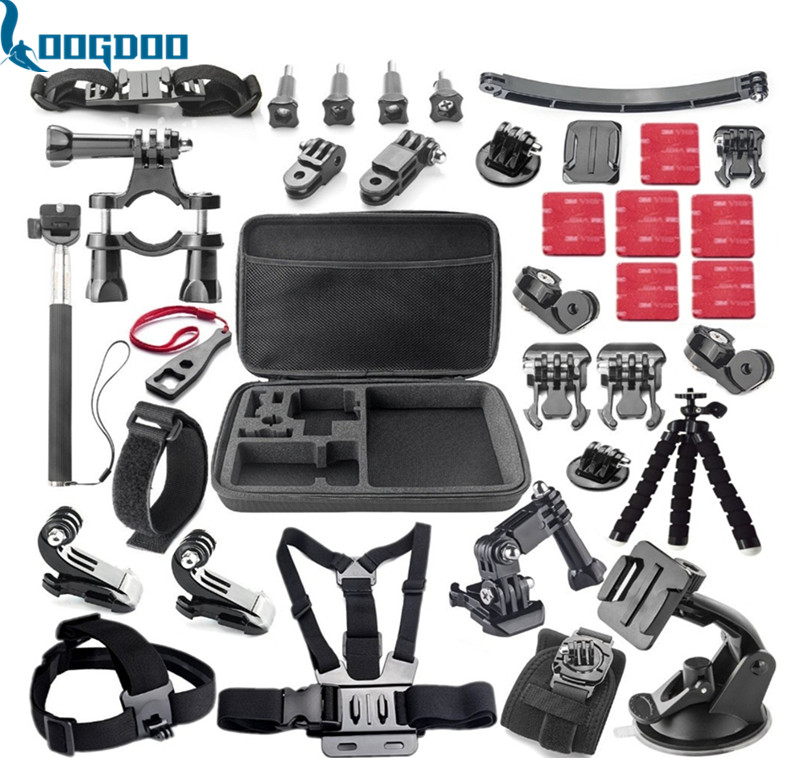 Gopro Accessories Acessorios For Sj5000 Go pro Hero 5 5S 3 4 HDR-AS15/AS20/AS30V/AS100V/i Sony FDR-X1000V/W 4K Action Camera Y23 dz chm1 clip head mount kit for sony action camera fdr x1000v hdrr as200v hdr az1vr hdr as100v