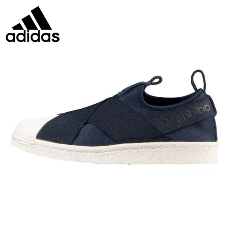 Adidas Clover Superstar SLIP ON Mens Skateboarding Shoes , Dark Blue, Non-slip Shock Abs ...