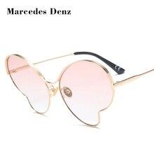 Marcedes Denz 2018 Mariposa de La Manera de Las Mujeres gafas de Sol de Marca de Diseño de Marco de Metal Gafas de sol gafas de Sol Gafas de Tiroteo en La Calle