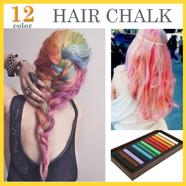12 Colorsset Fashion Hair Chalk Fashion Color Hair Chalk Dye