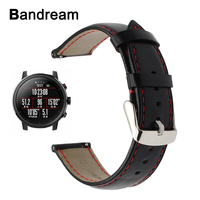 Genuine Calf Leather Watchband 20mm 22mm For Amazfit 1 2 2S Xiaomi Huami Bip Bit Pace