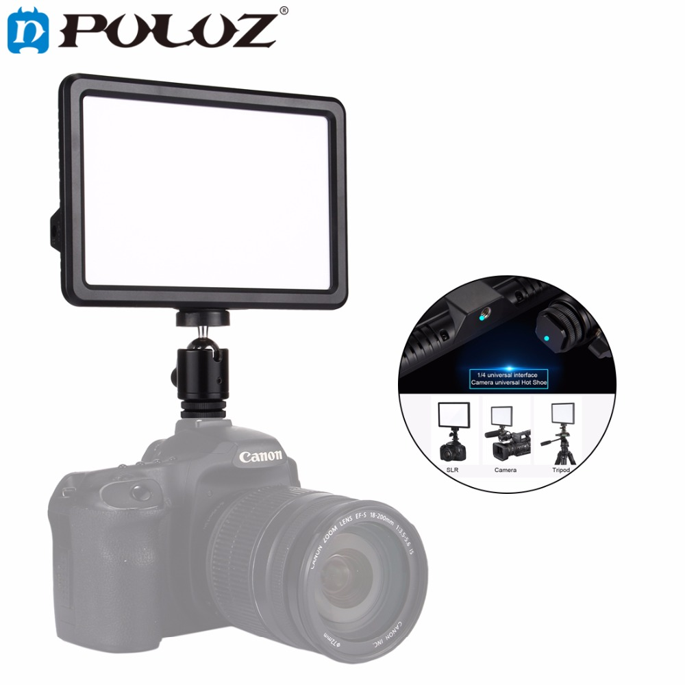 PULUZ Video Light Photo Fill Light on Camera Video Hotshoe Dimmable LED Lamp Lighting for Canon, Nikon,Camera Camcorder DSLR