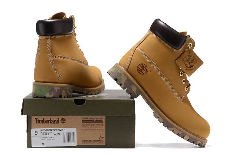 US $107.5 14% OFF|TIMBERLAND Men Unique 10061 Military Camouflage Anti Slip Bottom Boots,Men's Male Leather Ankle Wheat Yellow Casual Shoes 40 45 in